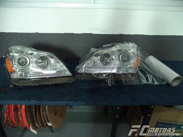 东莞改灯【锋程车改】奔驰GL350原车灯太暗升级原装进口 ...��5��
