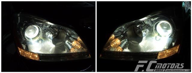 东莞改灯【锋程车改】奔驰GL350原车灯太暗升级原装进口 ...��1��